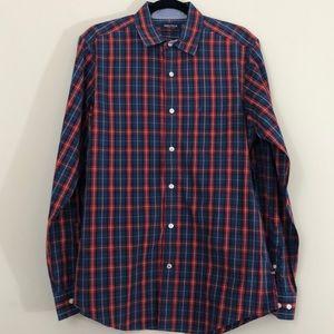 Nautica Plaid Long Sleeve Button-Down Shirt Size S